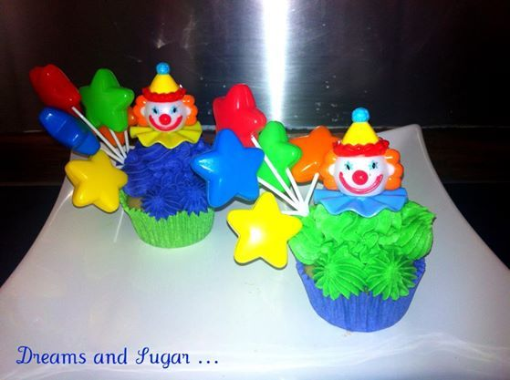 clown's chocolate cupcakes