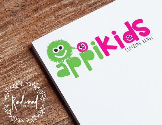 Premade Logo  Logo ontwerp  Kinderen Logo  Kids Logo  Leuk