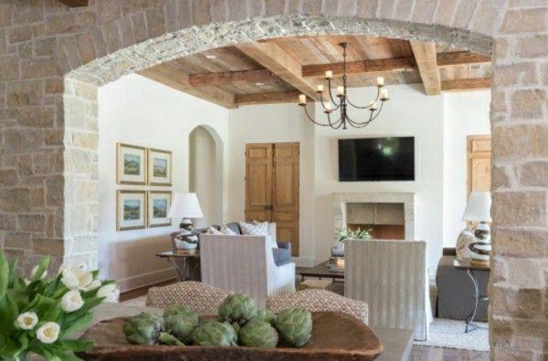 toller rahmen steinwände inneneinrichtung ideen Wandgestaltung - tapeten fürs schlafzimmer
