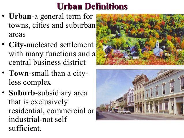 urban human geography