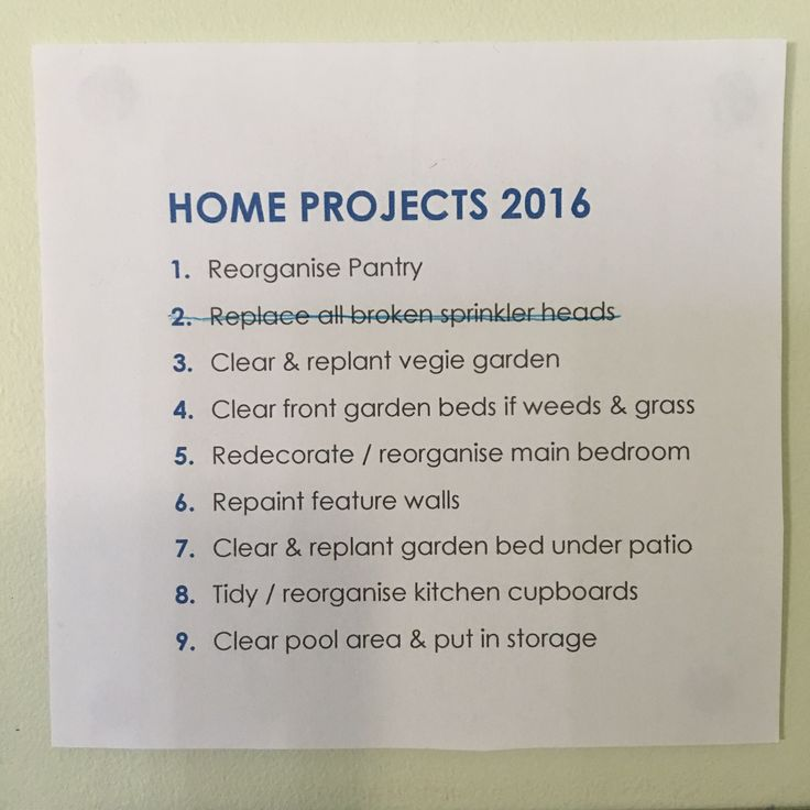 It's official! Our 2016 Home Improvement projects are underway! And we have one crossed off the list as done