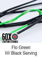 fluorescent green with black custom bow string