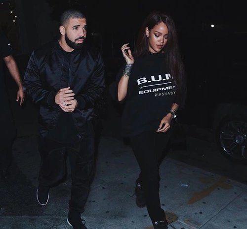 Imagen de Drake, rihanna, and black