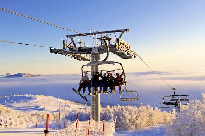 Enjoy great views from the ski lift