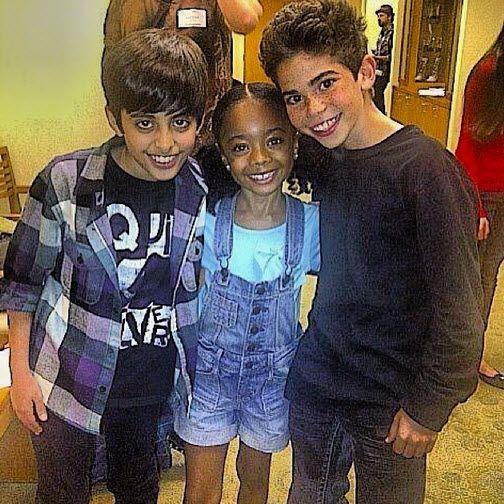 Throwback Thursday Photo: Skai Jackson With Cameron Boyce And Karan Brar October 17, 2013