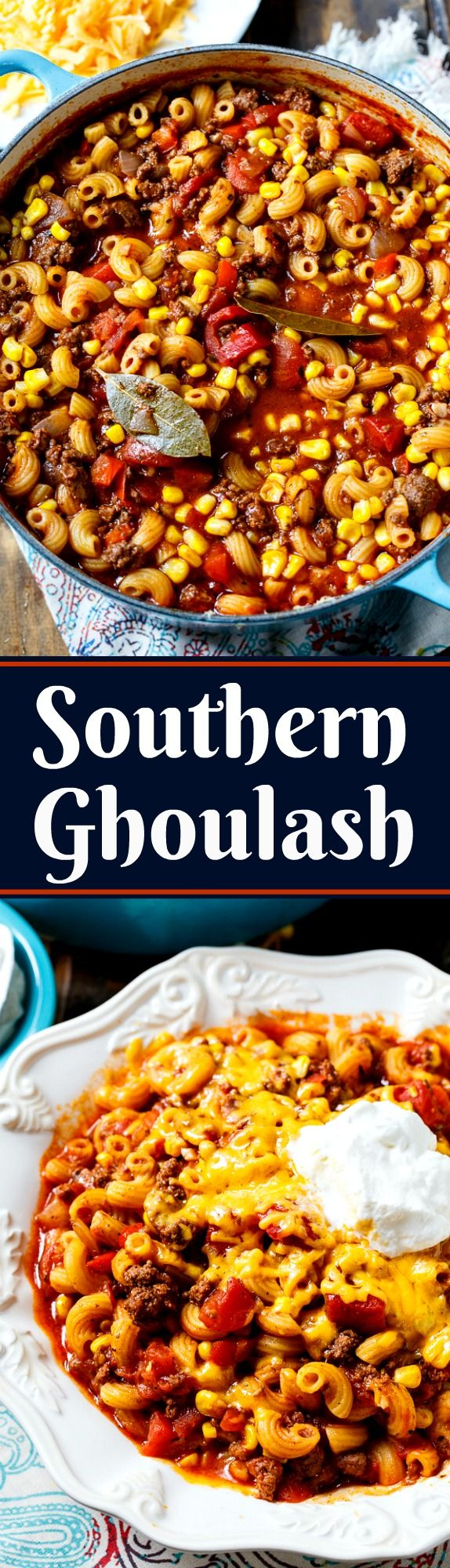 Old-Fashioned Southern Ghoulash is a comfort meal like no other!