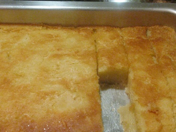 Butter Mochi -fresh from the oven