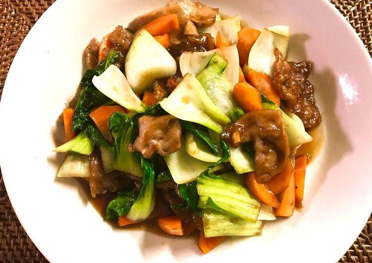 豚肉とチンゲン菜のオイスター炒め « SAKURA KITCHIN