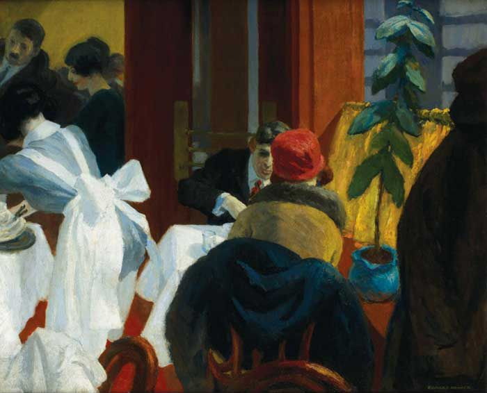 Edward Hopper, Le Restaurant à New York, 1922                                                                                                                                                                                 Plus