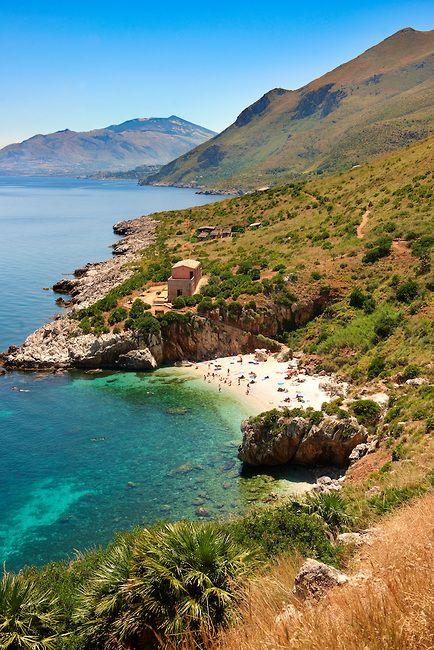 Cove beach, Zingaro Nature Reserve, Scopello, Sicily, Italy