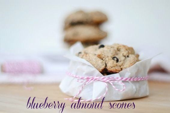 Honey We're Healthy: Blueberry Almond Scones     I like that she uses coconu…