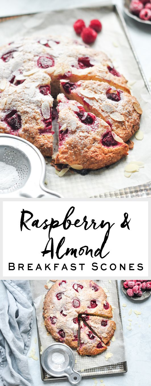 Raspberry & Almond Breakfast Scones | eatlittlebird.com