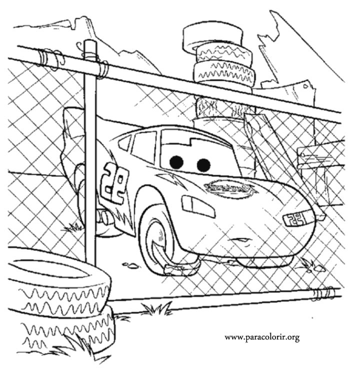 cars character coloring pages - photo#26