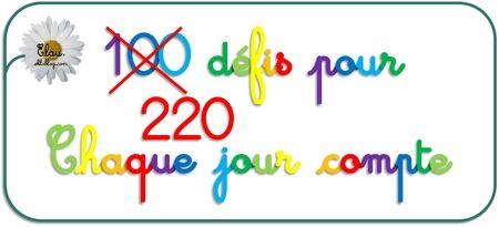Banque de 220 défis CP pour la fête du 100e jour !