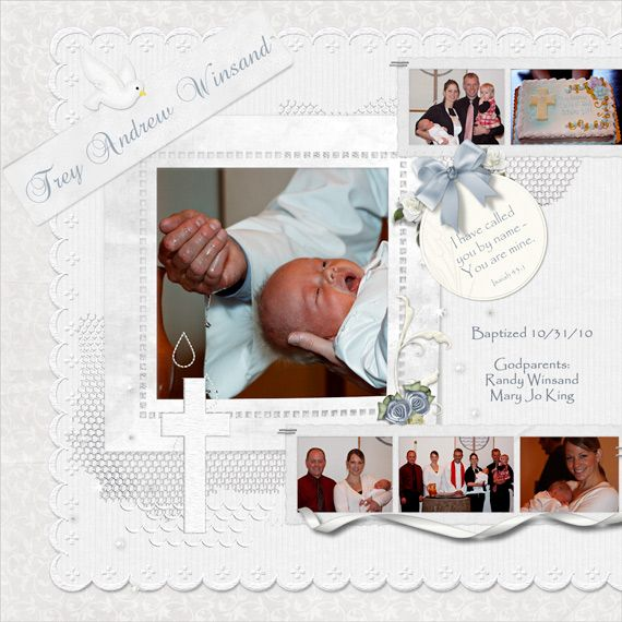 layouts for scrapbooking 1st communion | Trey's Baptism - Digital Scrapbook Place Gallery