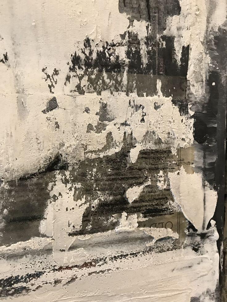 C H A M P A I G N Black/ Cream/ White Plaster #paintings #texture #black #white #art #artwork #home #decor