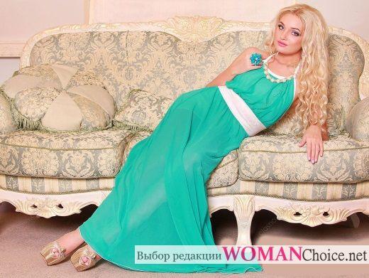 Бирюзовое платье - фото, с чем носить