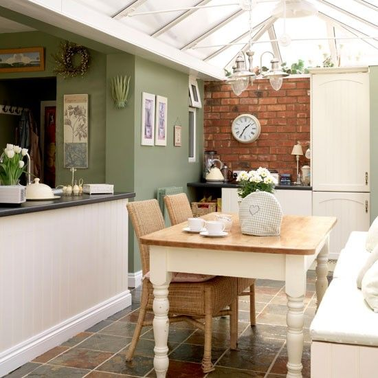 Rustic kitchen-diner | 10 ways to use a conservatory | housetohome.co.uk