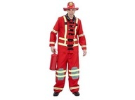 Adult Deluxe Fireman Suit  Includes: Jacket, pants & hat