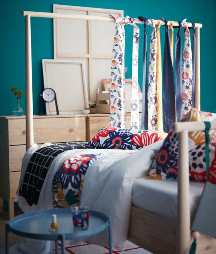7 bright bedroom ideas to steal from ikea  headboard
