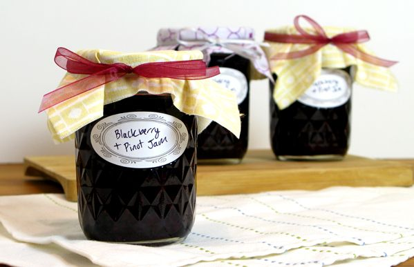 Blackberry Jam with Pinot Noir, can't wait to give this out as gifts! Also love cooking with wine :)
