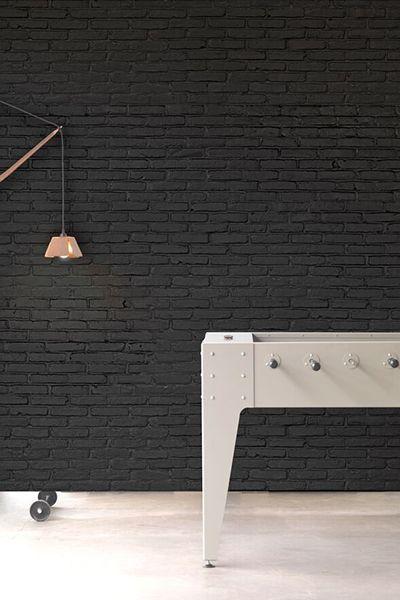 PHM-33 Black Brick Wallpaper By Piet Hein Eek