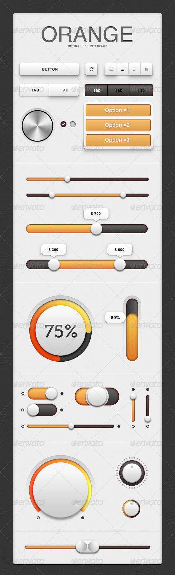 User Interface - Orange - GraphicRiver Item for Sale