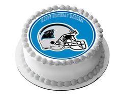 Carolina Panthers Edible Birthday Cake Topper OR Cupcake Topper, Decor - Edible Prints On Cake (Edible Cake &Cupcake Topper)