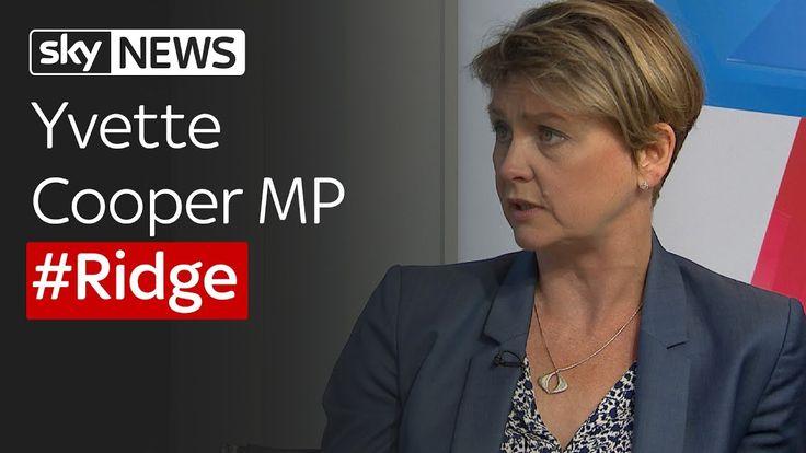 Yvette Cooper MP on Sophy Ridge on Sunday