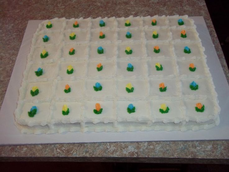 wedding cake sheet recipe cake squares for a bridal shower cakes from my kitchen 24488