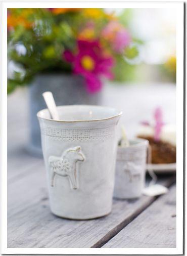 Dala horse mug. I think I'd use it as a mini vase. So cute! (Swedish Design House)