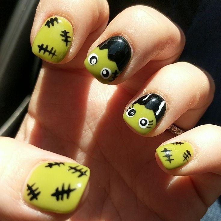 Halloween NexGen Nails!! The Bride of Frankenstein and his ...