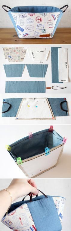 Fabric Covered Boxes, Storage Boxes and Crates. DIY Tutorial http://www.handmadiya.com/2016/10/fabric-basket-tutorial.html