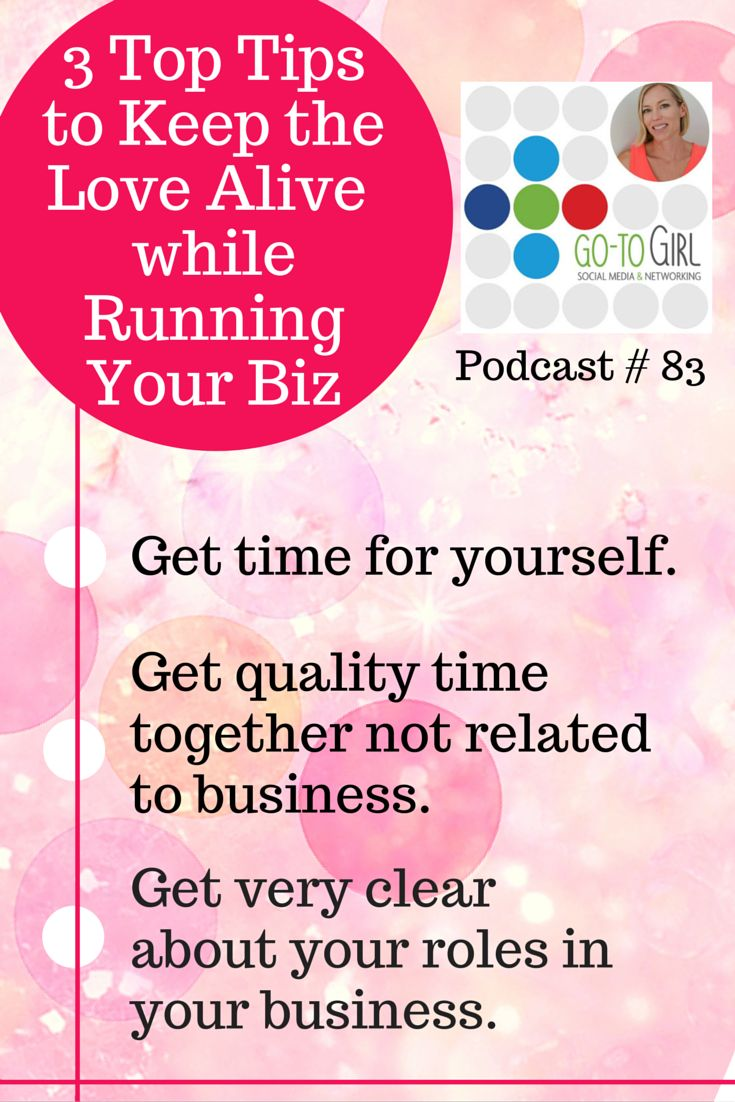 Keeping the 'love alive' in your relationship when you're running a business can be tricky.  In this podcast I'm talking to Henare and Kate, all the way from their new house in Fiji. Click the player to listen or video to watch this podcast for more tips how to keep the love alive.