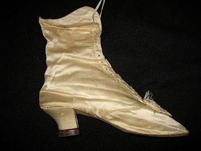 antique silk shoe