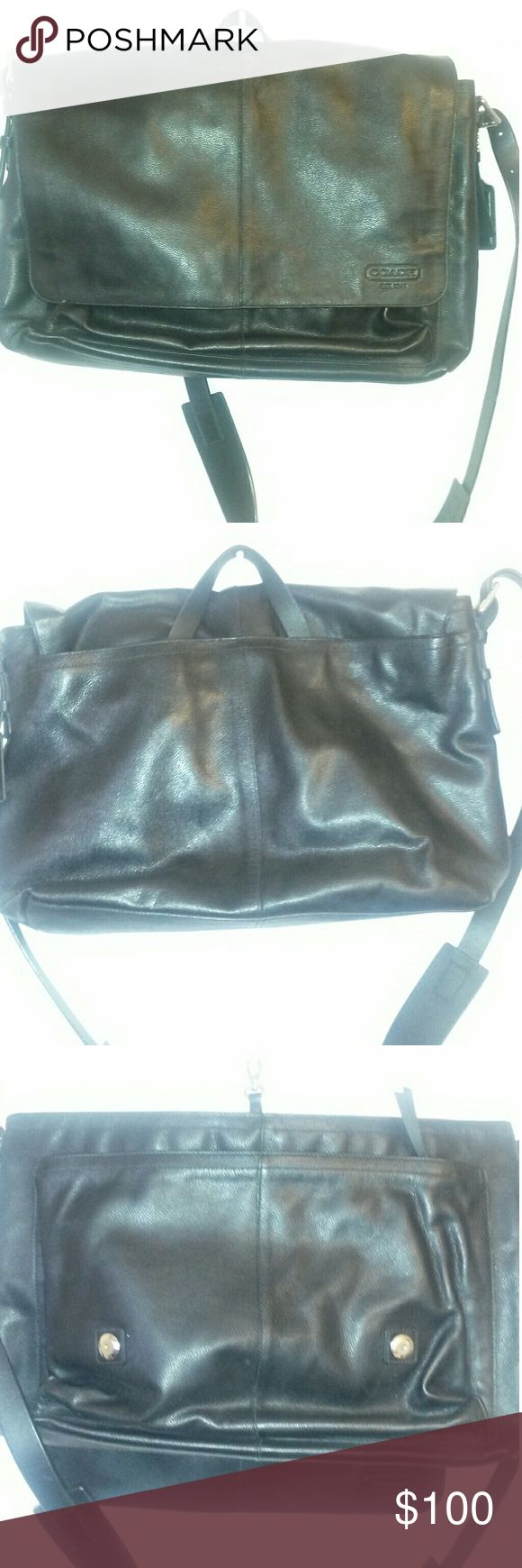 Mens Coach work bag Men Leather messenger bag Coach Bags Messenger Bags