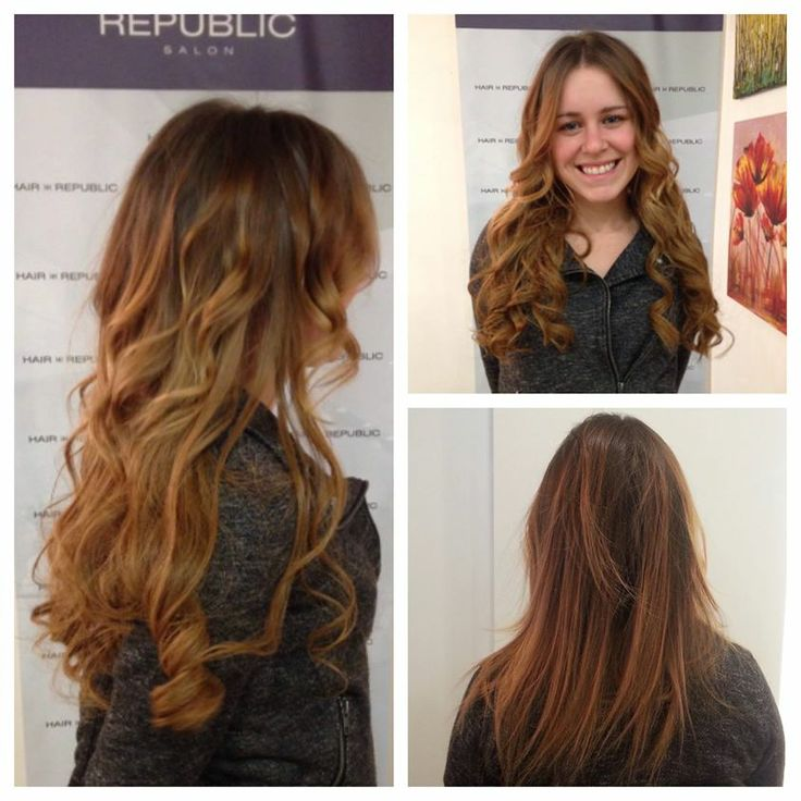 Another Before And After Shot Of A GreatLengths Canada Extension Hair Service By