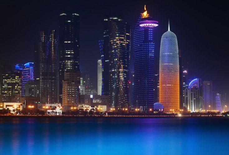 Una vista general de la silueta de Qatar el 20 de febrero de 2014 en Doha, Qatar