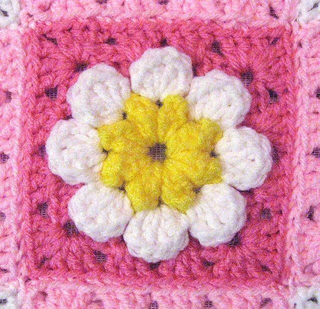 Vintage 70s Yellow Daisy Flower Afghan Throw Blanket Flower: 1000+ Images About Mycrochet Daisies/grannies&afghans On