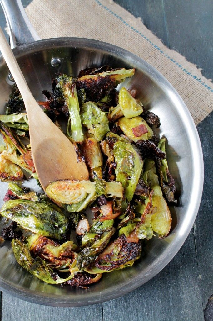 Savory Sundays: Roasted Brussels Sprouts with Bacon from @Kate Petrovska | Diethood