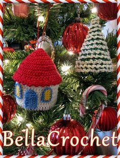Country Cottage and Tree Ornaments