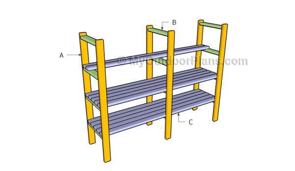 Building 2x4 Shelving Plans Workshop Plans Pinterest