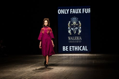 """Shining Square"" FW 2016/17 collectionbyWaleria Tokarzewska-Karaszewiczwas presented on April 23, 2016 during the 14th edition of FashionPhilosophy Fashion Week Poland. #Łódź #FWPL #Poland #fashion"