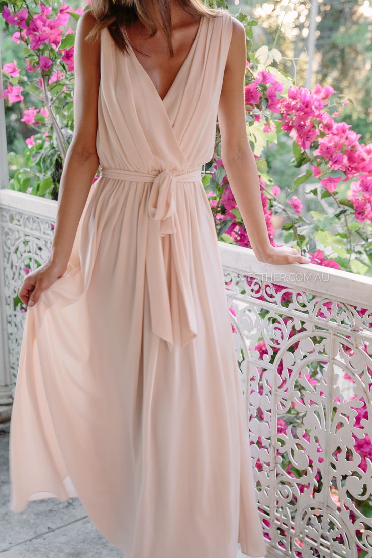 Tulip Maxi Dress - Blush