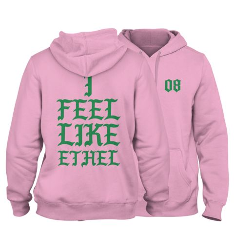 Alpha Kappa Alpha Pablo Hoodie (Pink) - Letters Greek Apparel - Black Greek Paraphernalia