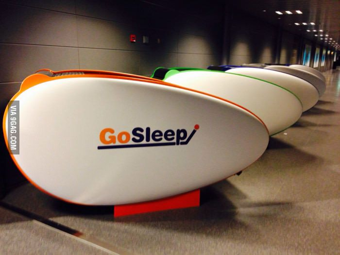 Free sleeping pods in Helsinki airport
