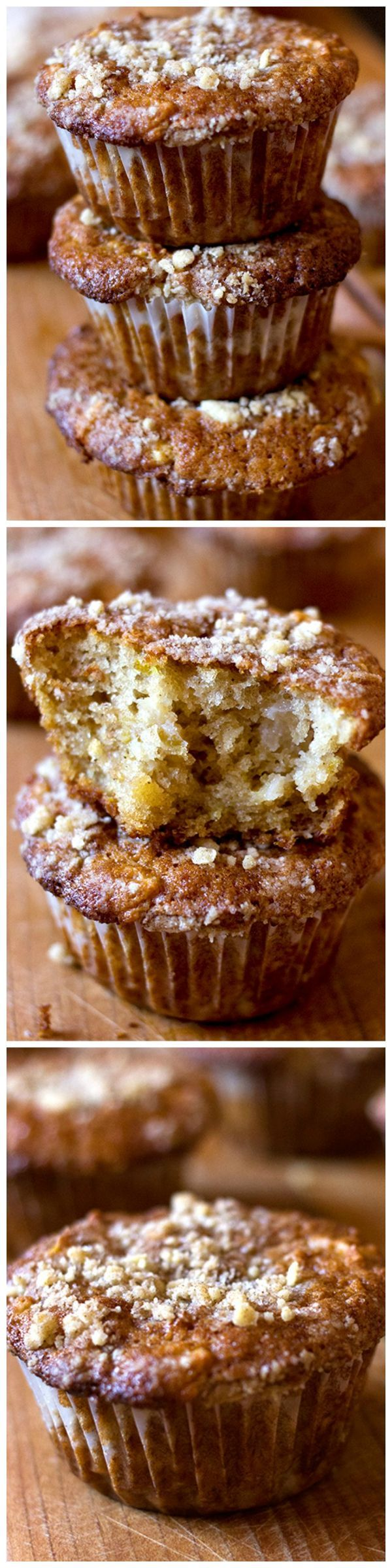 Apple Cinnamon Muffins - these are ridiculously easy and came out super fluffy and just plain delicious. I even got the fussy eater to eat half of one muffin and that, people, is huge!! #muffins #applemuffins