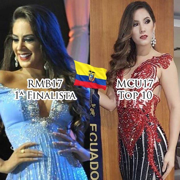 El día de ayer se celebraron dos concursos en Ecuador y en ambos nuestras representantes lograron clasificar. Los vídeos de sus participaciones ya los tienen en mi canal de YouTube (https://www.youtube.com/watch?v=Z3rTDfDgq8I&list=UUSYEMqZMIY40-iSOK-4vPRg)  Estos fueron los resultados de ambos certámenes:  Miss Continentes Unidos 2017: RUSIA 1ª finalista: Ucrania 2ª finalista: México 3ª finalista: Tailandia 4ª finalista: Colombia 5ª finalista: República Dominicana  TOP 10: ECUADOR Venezuela…