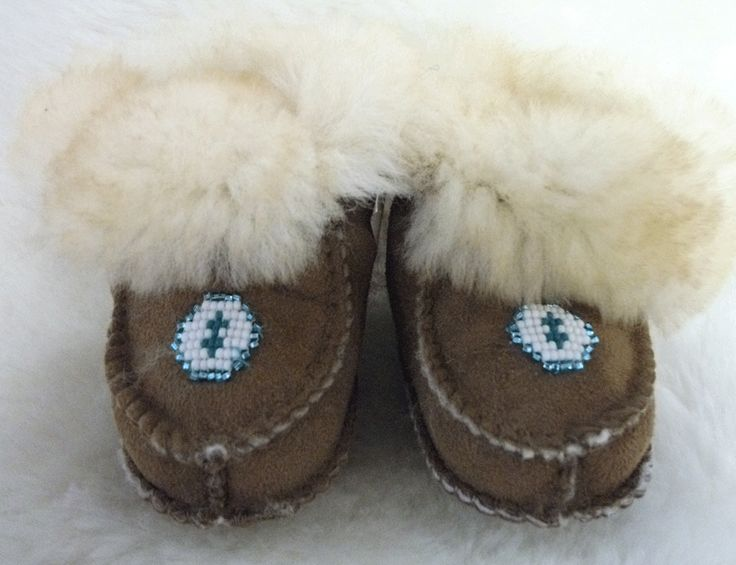 Lambskin Infant Moccasins with beads