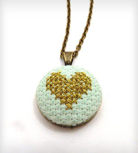 Cross Stitch Heart Necklace | Women's Jewelry | Zelma Rose